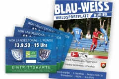 Blau-Weiß Pet-Egg_Poster+Eintrittskarten